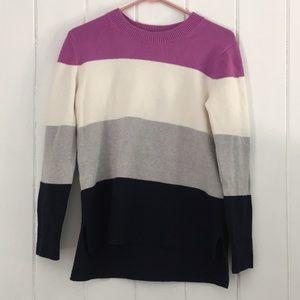 Banana Republic Striped Supersoft Cotton Sweater